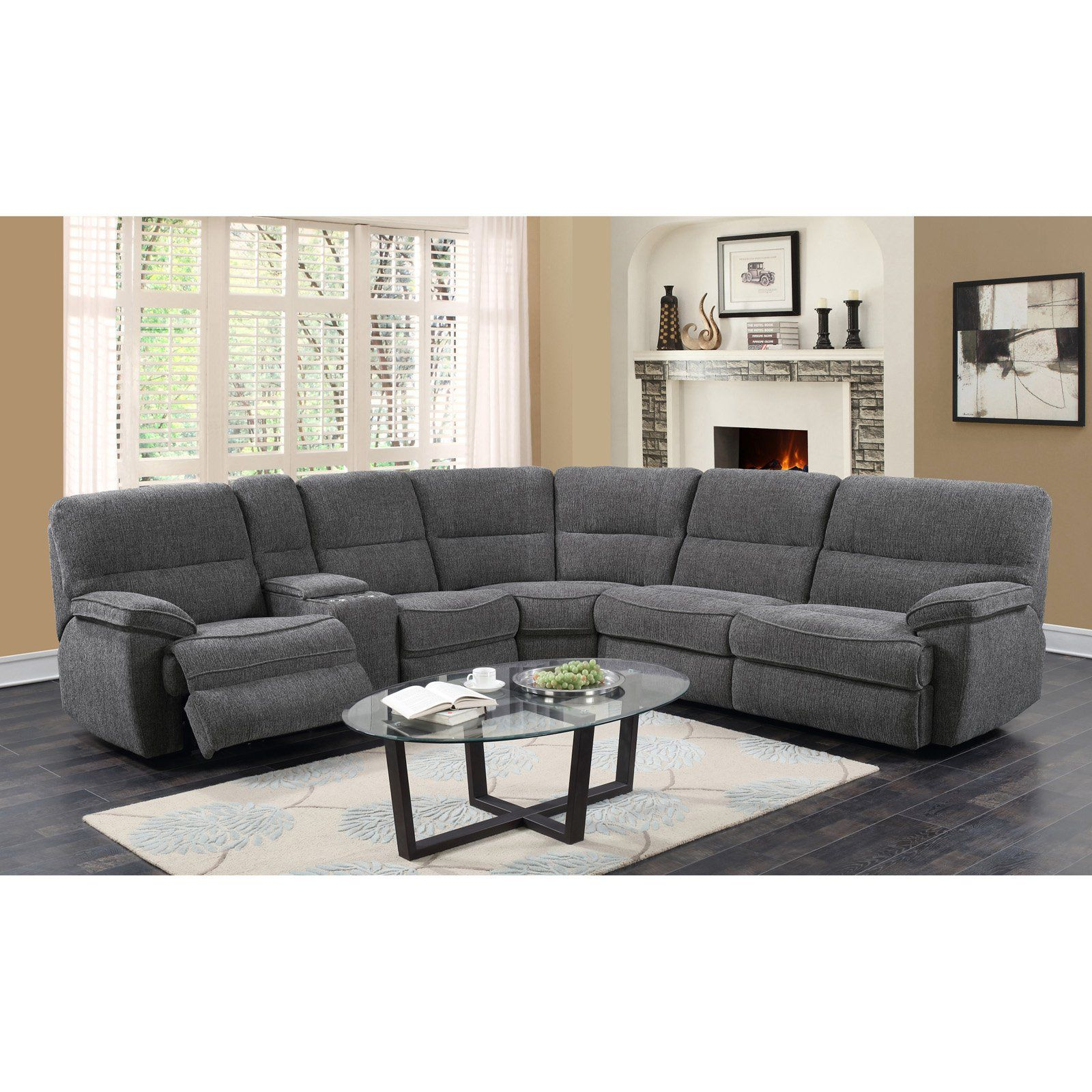 Best Emerald Home Aurora 3 Piece Sectional Sofa With Sleeper 400 x 300