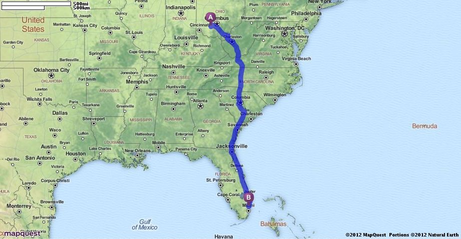 Mapquest Driving Directions From Greenfield Ohio To Fort: Mapquest Of Florida At Usa Maps