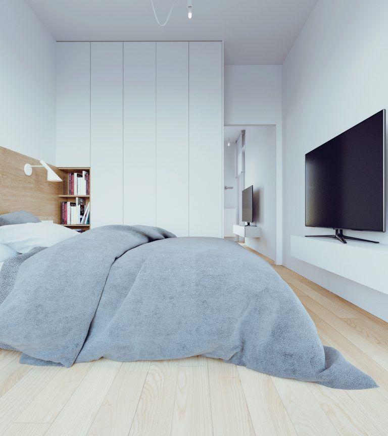 D Interiors Mała Sypialnia: 081-architekci-projekt-wnetrz-mieszkanie-gts-gdansk