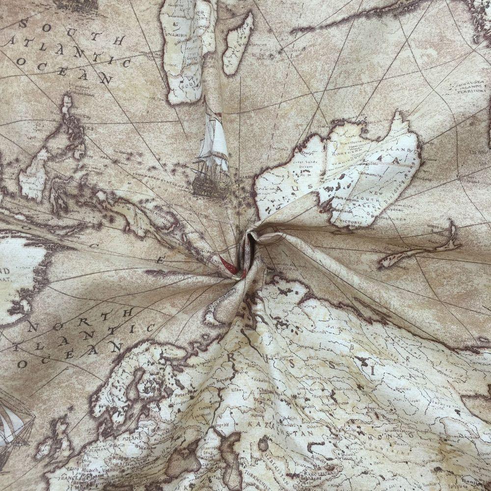 World map atlas vintage design cotton linen curtain upholstery world map atlas vintage design cotton linen curtain upholstery fabric 54 wide in crafts gumiabroncs Images