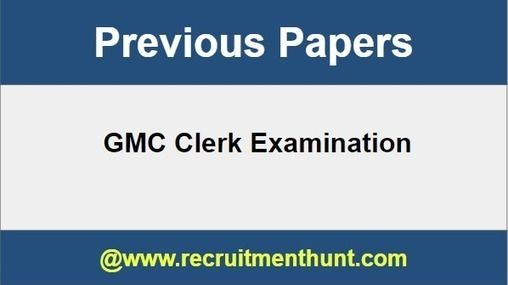 Download Gmc Clerk Previous Year Question Papers Pdf Previous