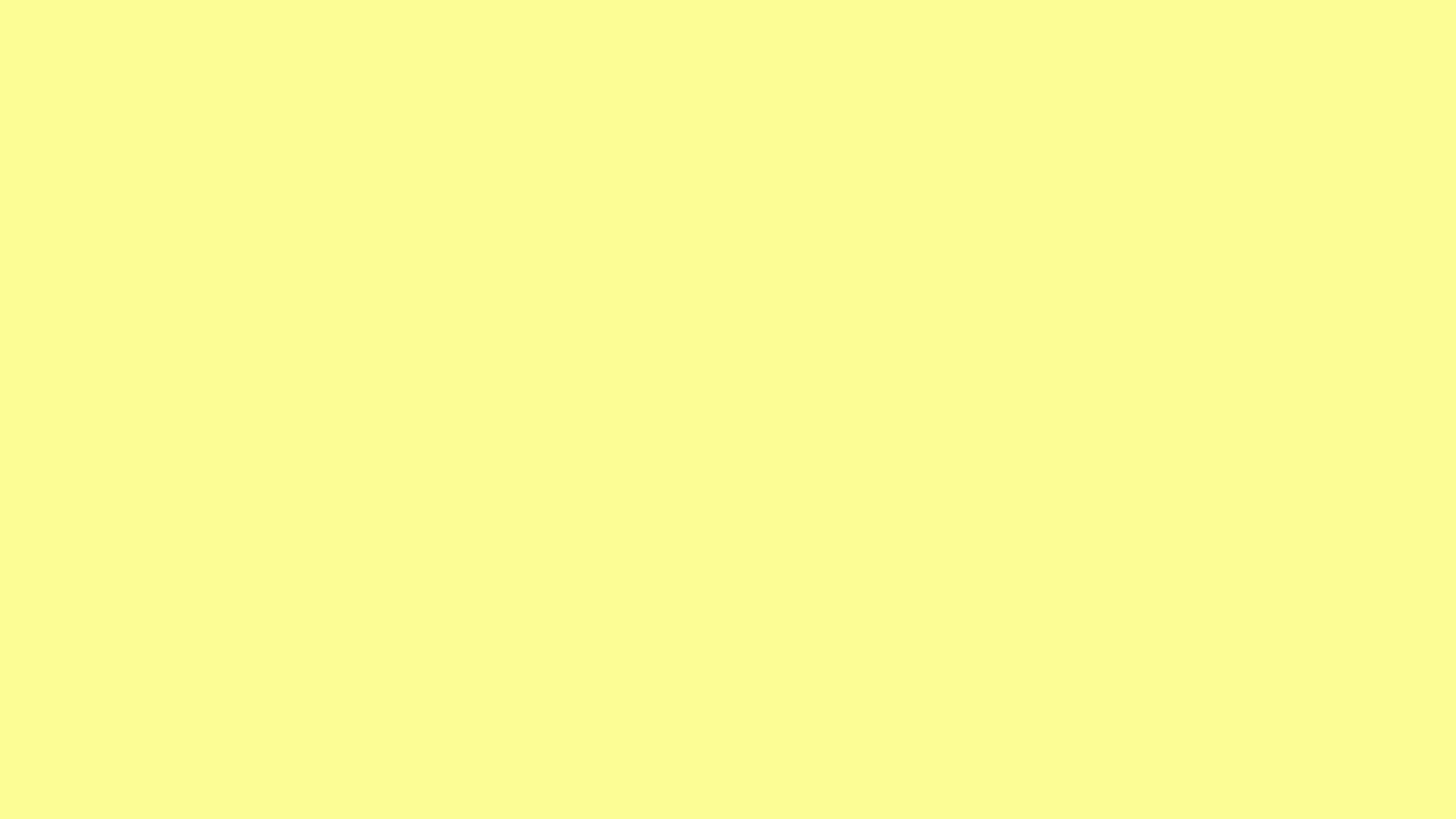 2560x1440 Pastel Yellow Solid Color Pastel Color Background