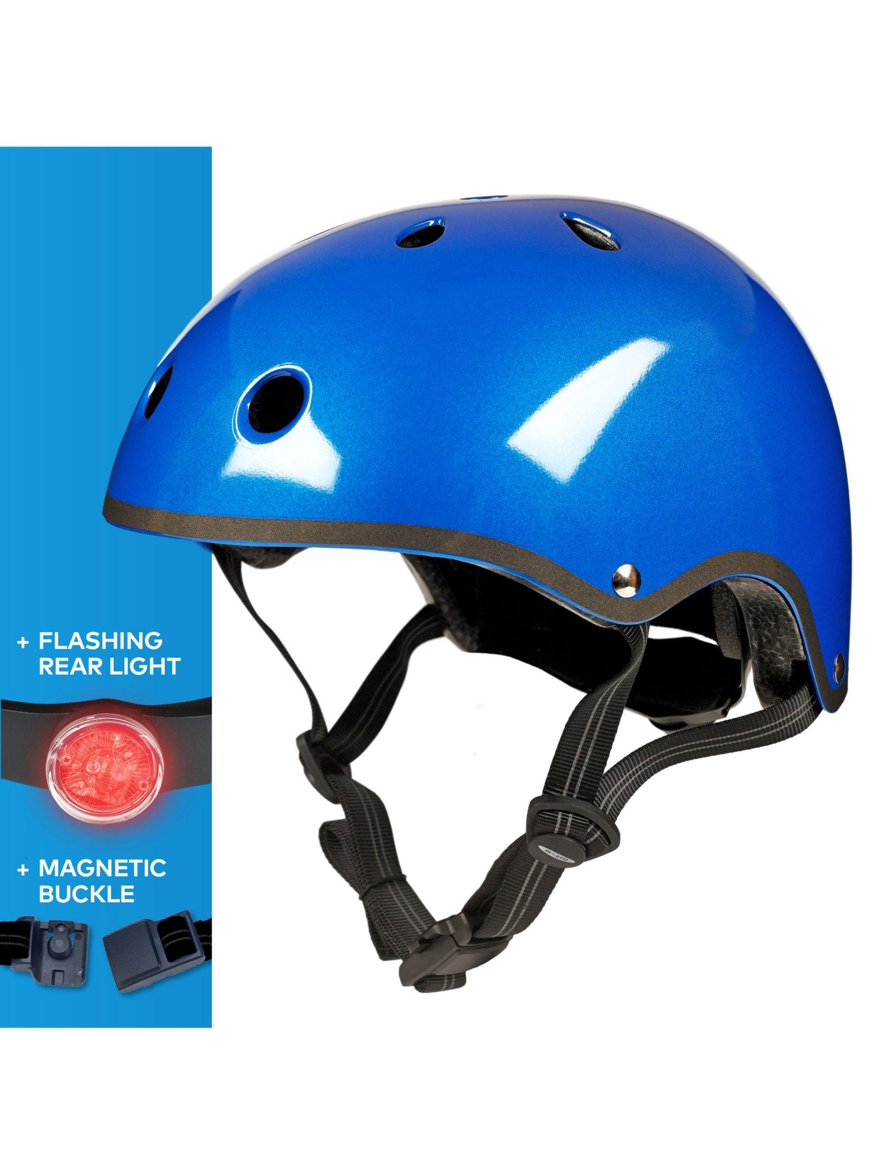 Micro Scooter Medium Safety Helmet Metallic Blue Scooter Helmet