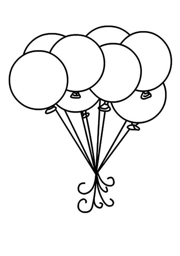 Top 25 Circle Coloring Pages For Your Toddler Cute Coloring Pages Princess Coloring Pages Balloon Template