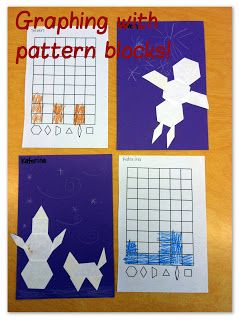 everyday math pattern block template - mrs byrd 39 s learning tree graphs for pattern blocks