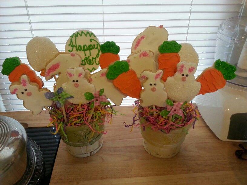 Easter cookie bouquets | felicia's favorite cookies | Pinterest