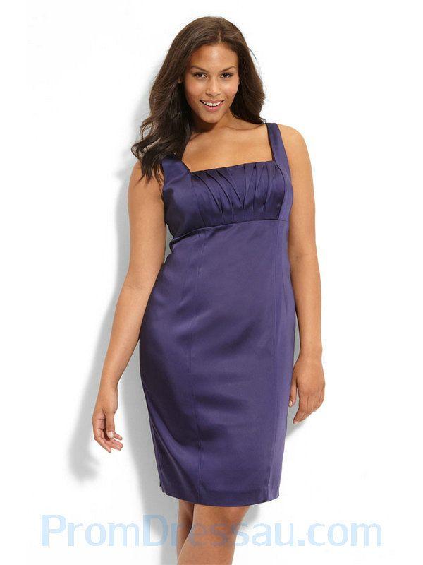 Buy Tailor-Made Square Neckline Purple Straps Wedding Dress for Plus ...