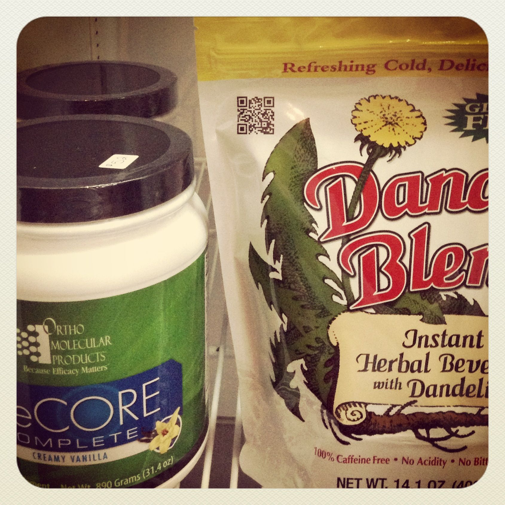 We are now selling vegan protein powder and Dandy Blend at our midtown location
