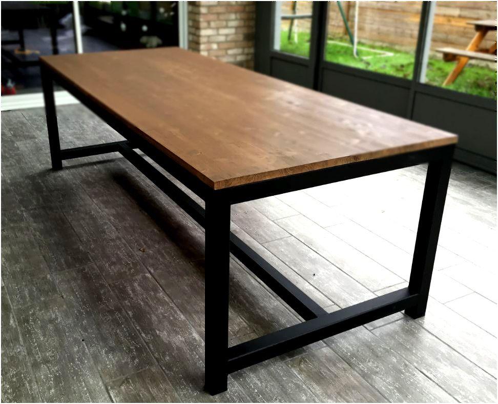 Table De Salle A Manger Bois Et Metal Table Salle A Manger 3
