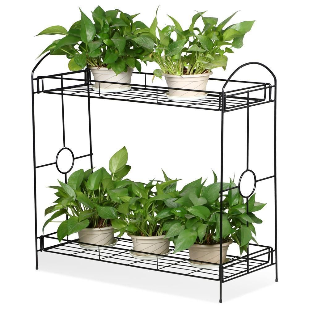 2 3 Tier Garden Plant Stand Indoor Outdoor Flower Rack Organizer Shelf Holder Plant Stand Indoor Tiered Plant Stand Indoor Metal Plant Stand
