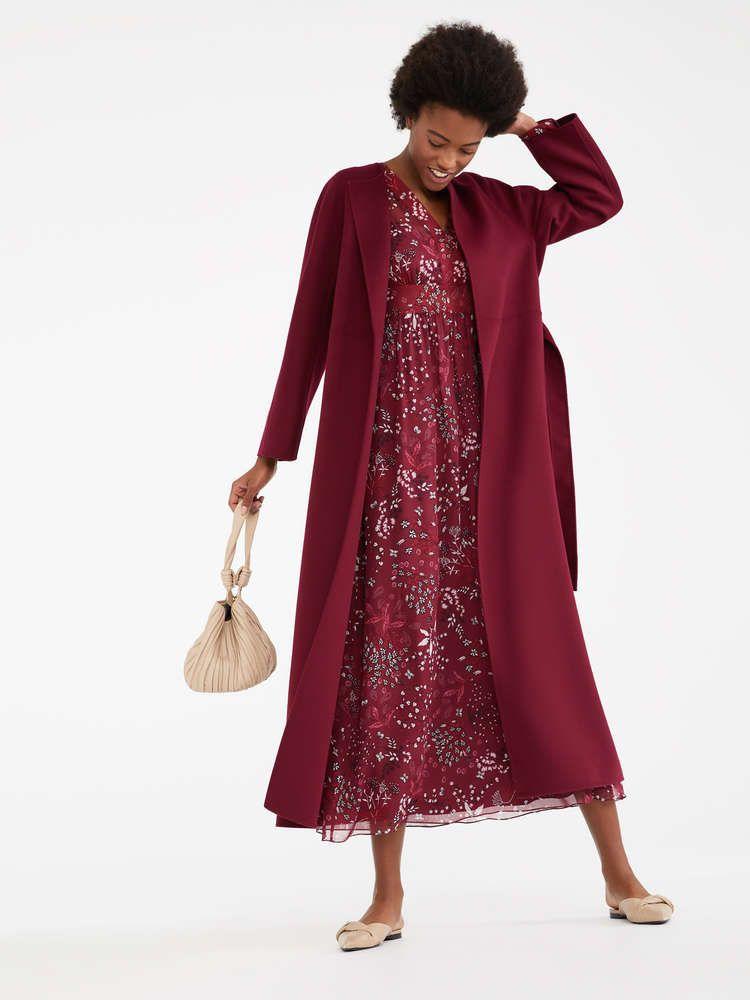 3918678d95 Silk and cotton voile dress, ultramarine -
