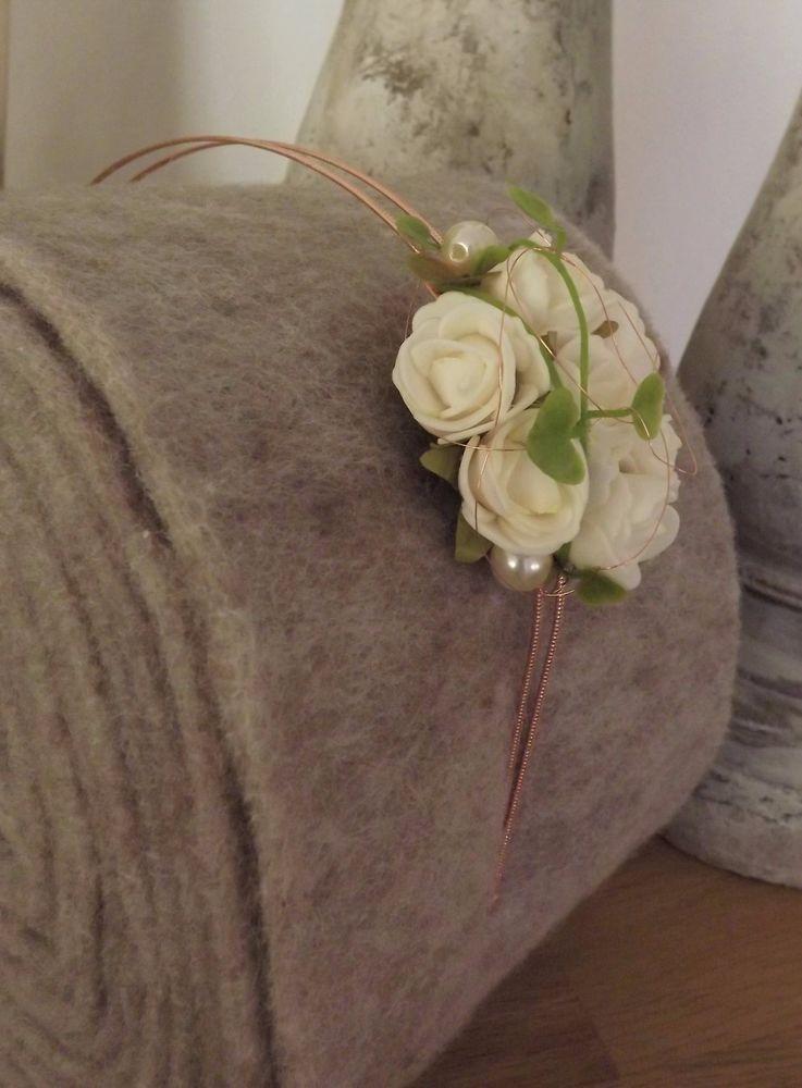 Blumen Haarreif Haarschmuck Kopfschmuck Creme Rosen Zur Hochzeit