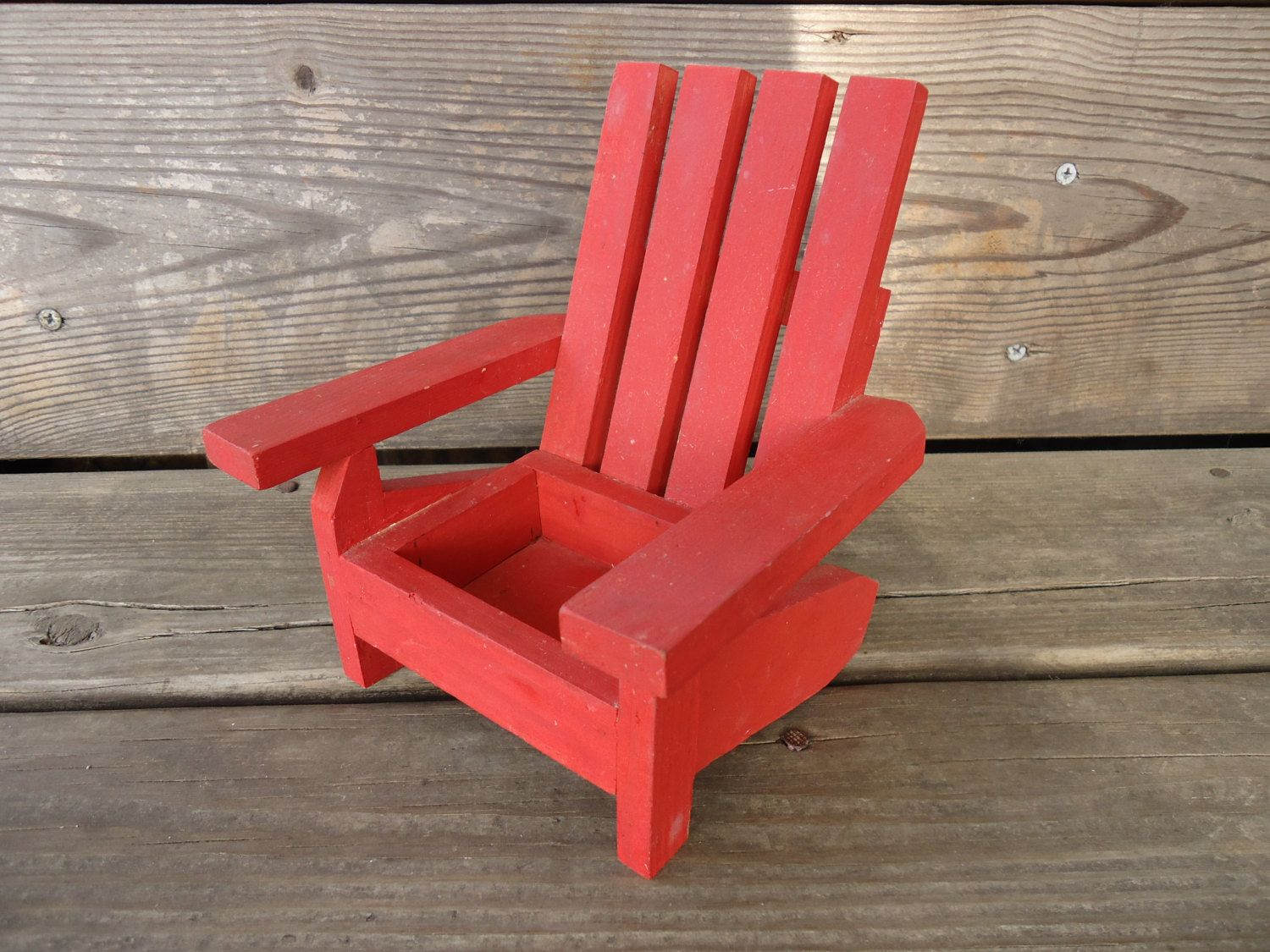 Wooden Miniature Adirondack Chair By Catsandclover On Etsy