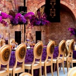 Stunning Purple + Gold Decor: I have a crush. A huge crush on this event decor.