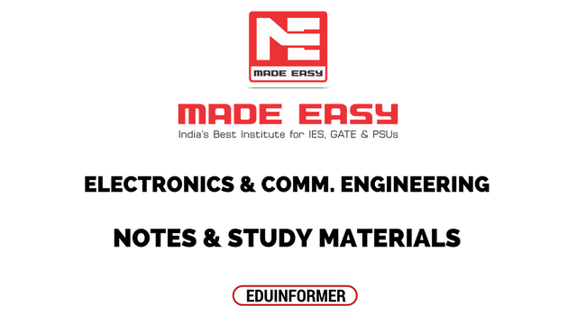 Made Easy ECE Notes and Study Materials for GATE IES & PSUs