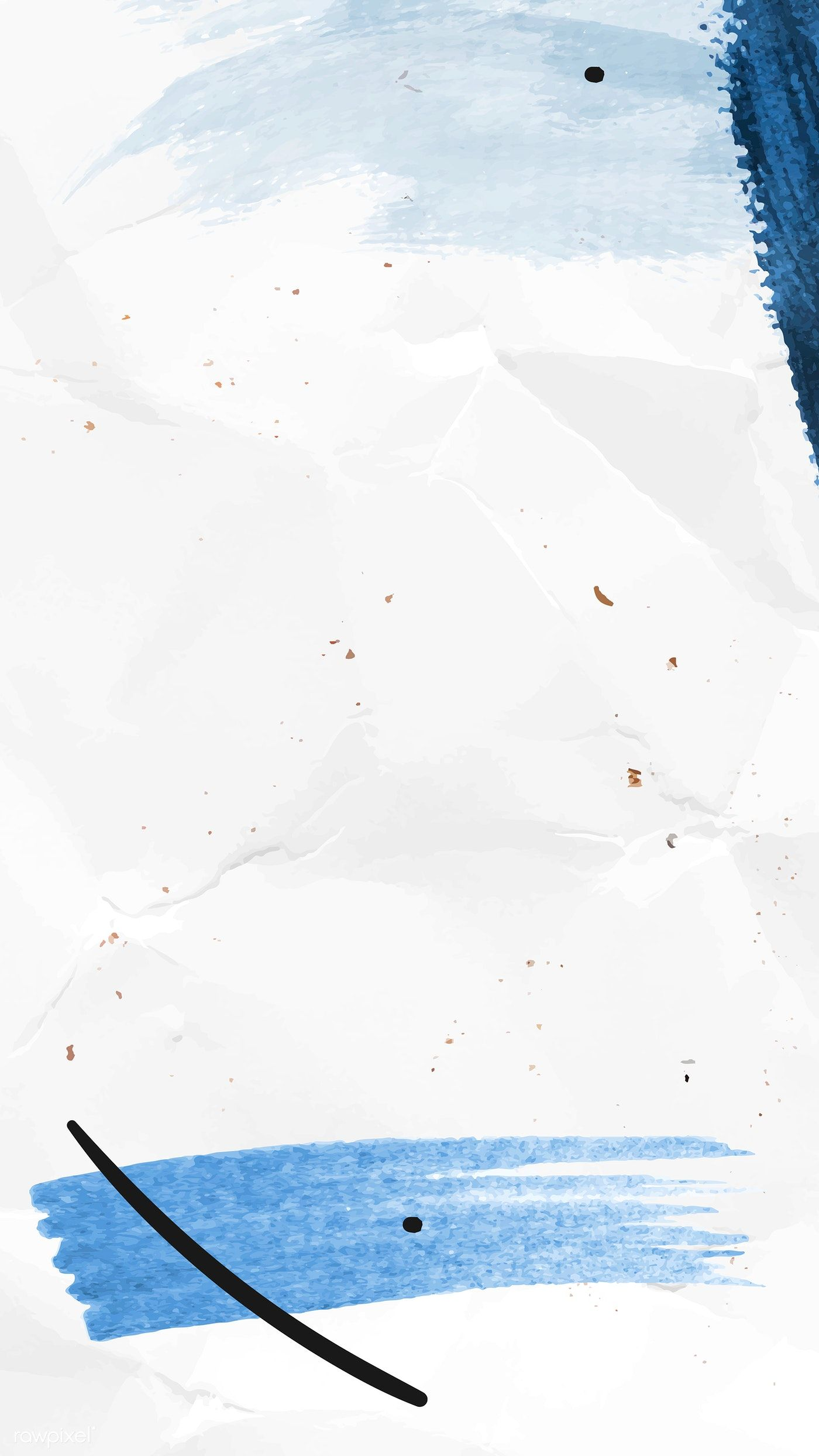 Download premium vector of Blue brushstroke on a crumpled paper background