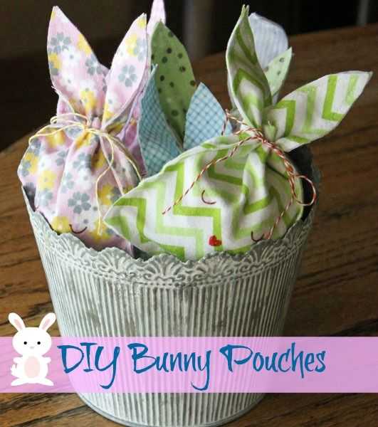 Diy easter bunny candy pouch easter bunny easter and bunny diy easter bunny candy pouch negle