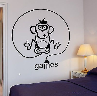 Wall Decal Gamer Video Game Room Cool Decor For Living Room (z2763)
