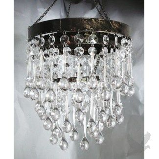 Crystal teardrop chandelier steph and micahs rustic country glam crystal teardrop chandelier aloadofball Images