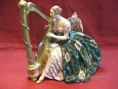 Fabelous lady with harp by cacciapuoti capo di monte it capo di fabelous lady with harp by cacciapuoti capo di monte it antique price guide details page altavistaventures Image collections