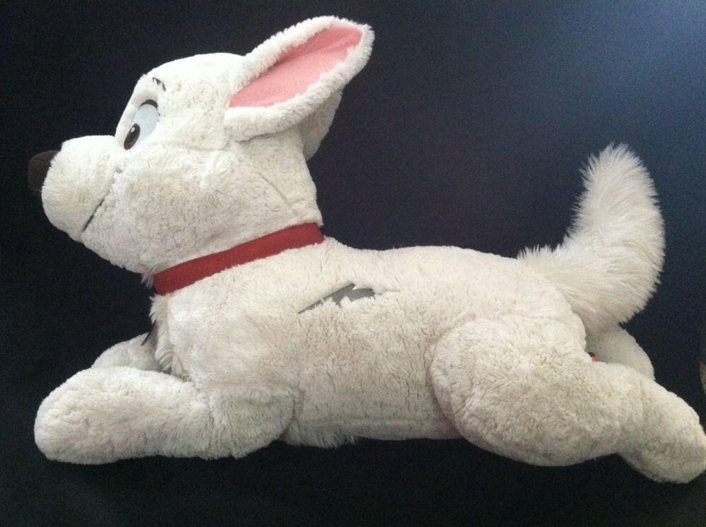 """Disney BOLT Plush JUMBO Giant 32"""" Stuffed Dog Retired"""
