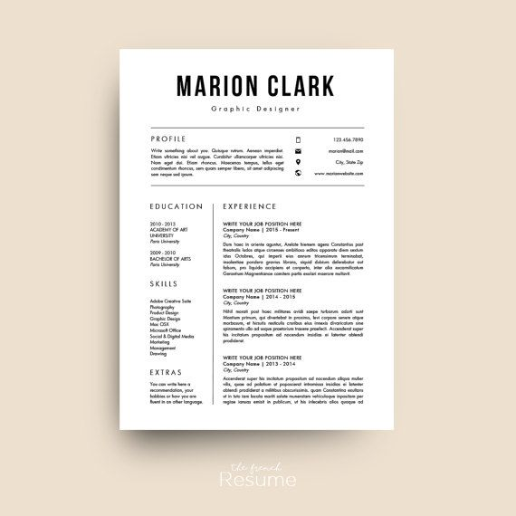 Reprendre Le Modèle CV Lettre De Motivation Et Références Simple Design  Resume Template CV Cover Letter