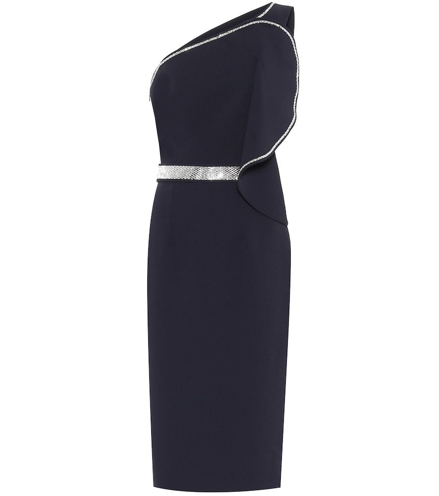 One-Shoulder-Kleid Bonita aus Crêpe in 16  One shoulder kleid