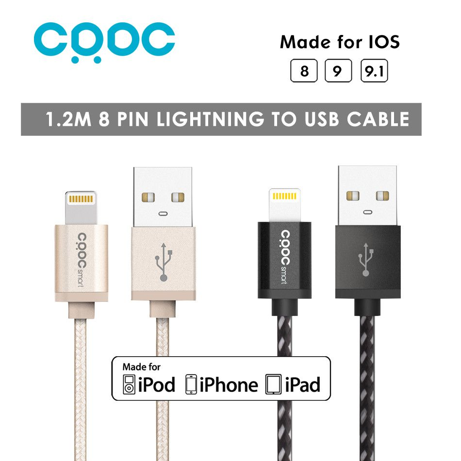 Crdc 12 M Hp Kim Nylon Mfi 8 Pin Cp Usb Cho D Liu St Sync Kabel Charger Data 2 In 1 Micro Lightning Iphone 5 Legering Voor 7 S 6 Plus Apple Ipad Air 10