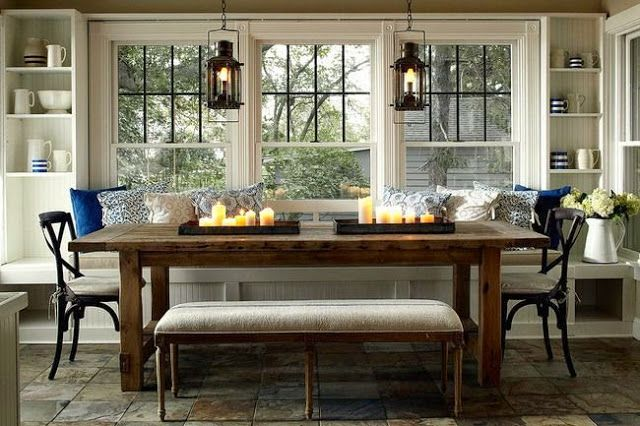 built in kitchen banquette seating