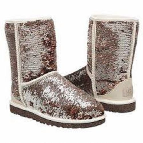 ad94c521e51 UGG-Women-039-s-Classic-Short-Sparkles-Glitter-Boots-CHAMPAGNE ...