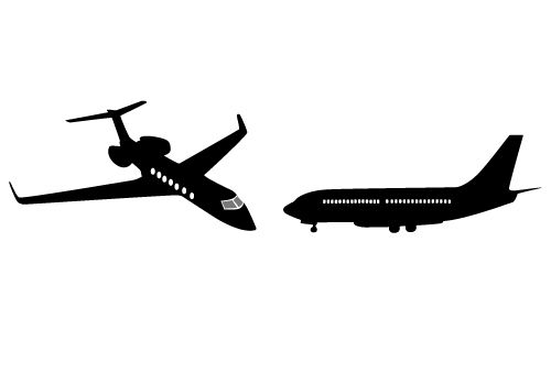Two Awesome Free Boeing 747 Vector Graphics Free Download Sv Stock Free Vector Graphics Silhouette Vector Vector Graphics