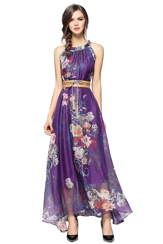 3ba0edfb60a Amazon.com  Joy EnvyLand Plus Size Floral Evening Gown Prom Cocktail Party  Summer Maxi Dress