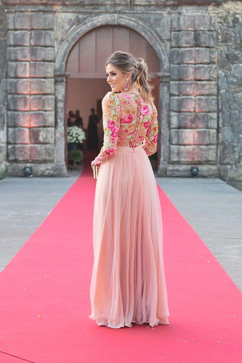 Look do dia: vestido floral para casamento de dia | vestidos de ...