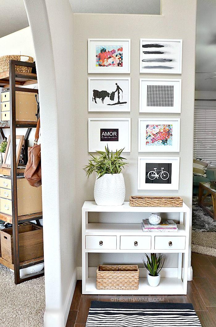 Home Decor - Entryway and Free Printables   Entryway decor, Small ...