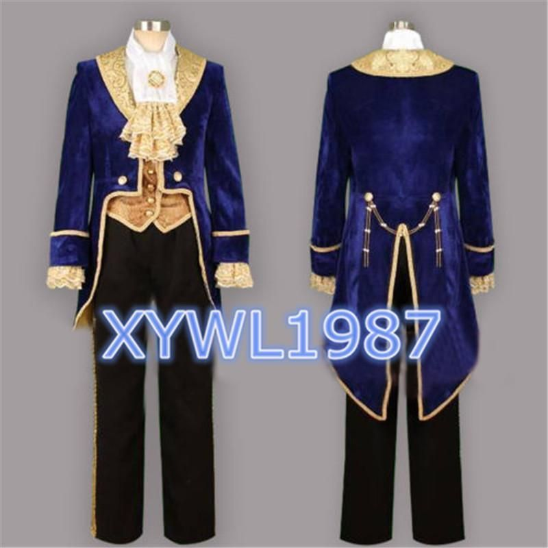 The Beauty And Beast Prince Tuxedo Men S Cosplay Costume Good Made