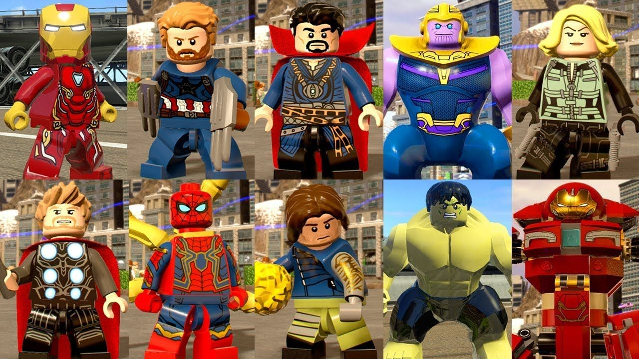 Marvel Super Heroes 60 Superhéroes: All Avengers: Infinity War Characters In LEGO Marvel Super