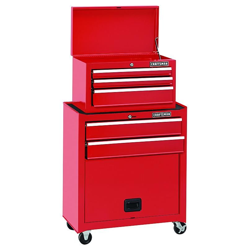 Craftsman 112226 5 Drawer Standard Duty Ball Bearing Tool Center Red Tool Chest Storage House Craftsman