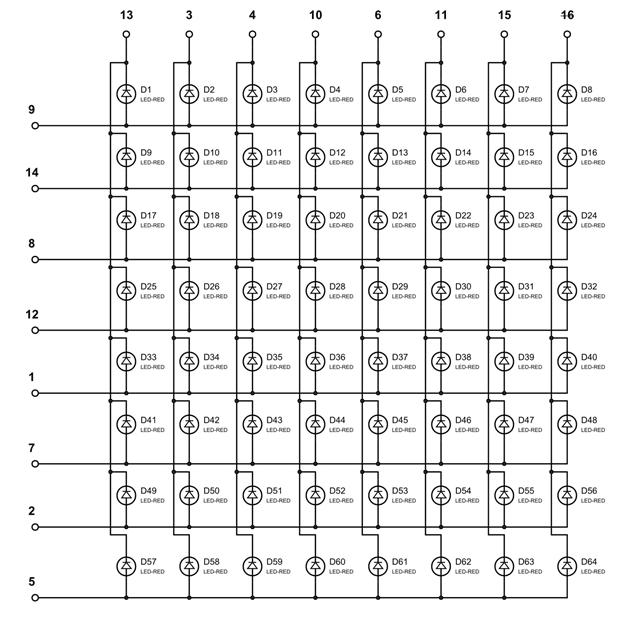 Full Internal Circuit of LED Matrix | 008 | Led, Raspberry pi