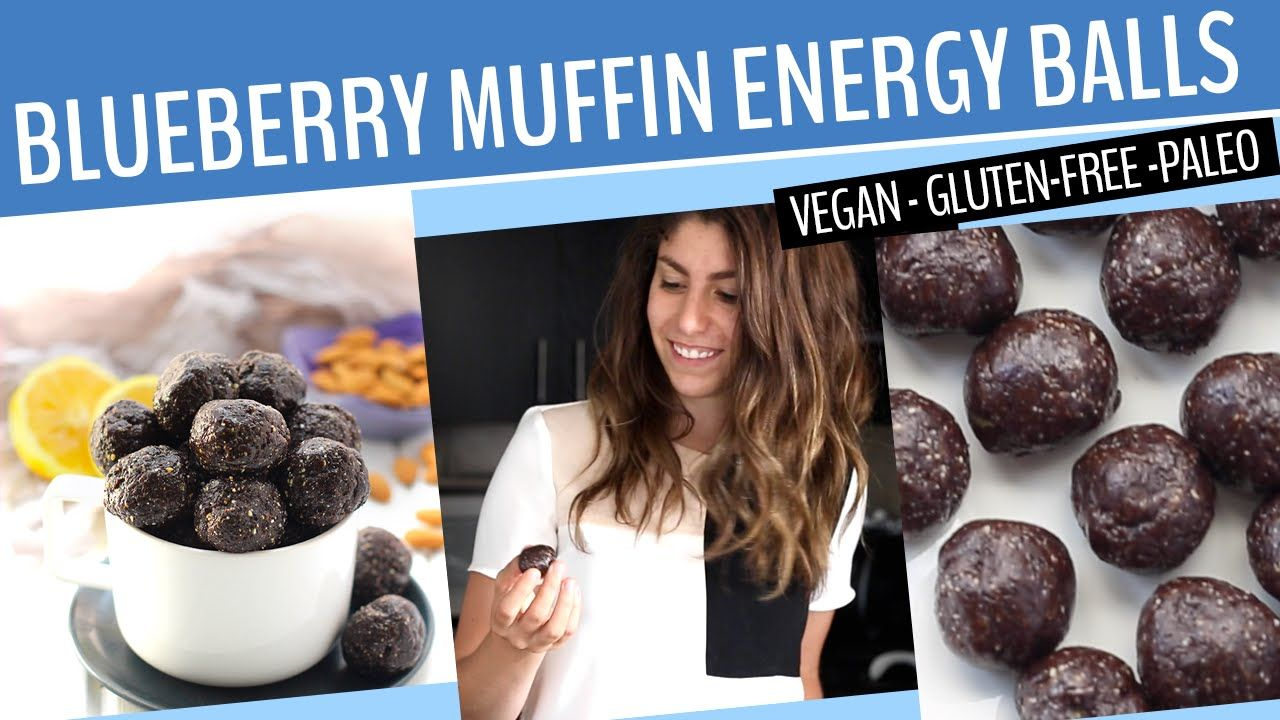 BLUEBERRY ENERGY BALLS RECIPES | A healthy + vegan snack recipe