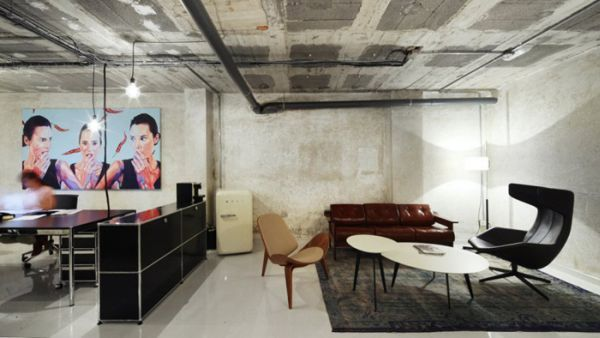 Basement Office Design Property the beauty of concrete from interior design to architecture