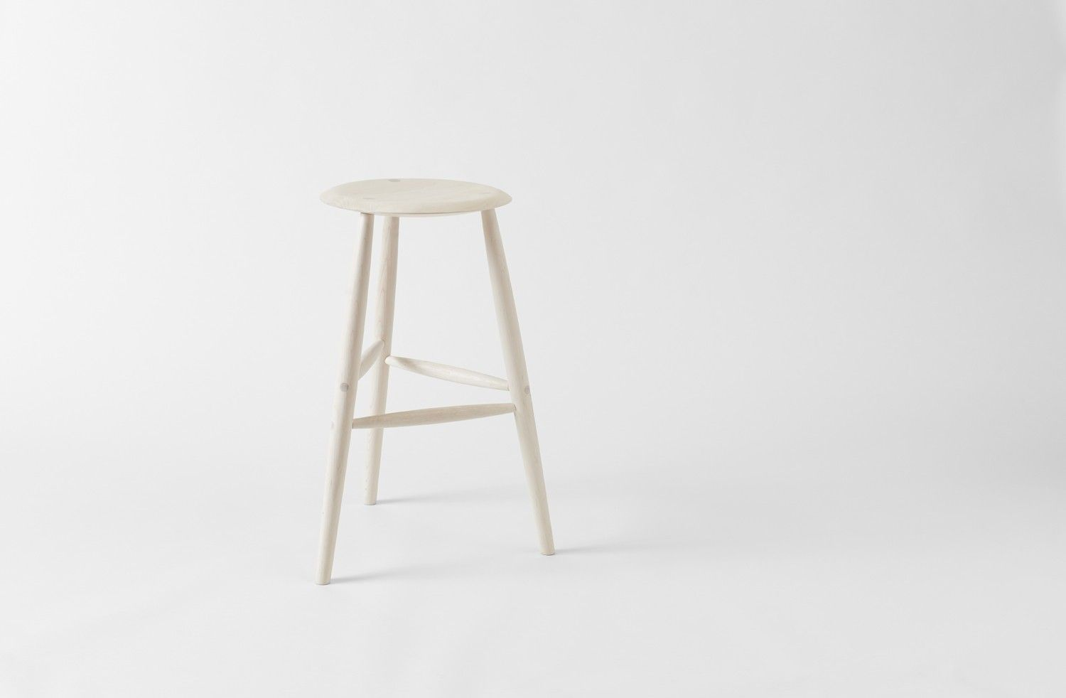 Sawkille Co. Bar Stool in Bleached Maple | Scandi Salt Box ...