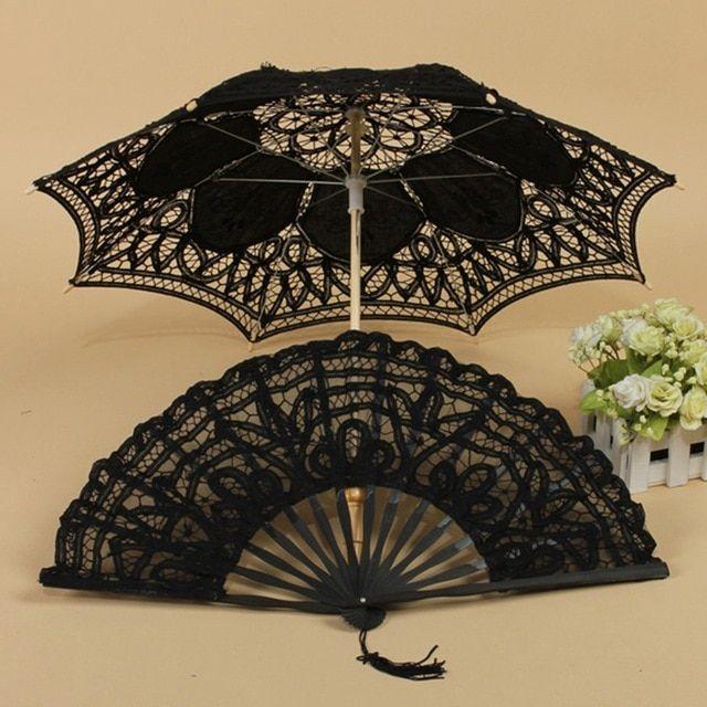 Elegant Cotton Lace Parasol Umbrella | Lace parasol ...