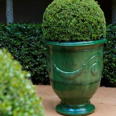 French Anduze Pots Garland Glaze | Anduze pot, Garden urns ...