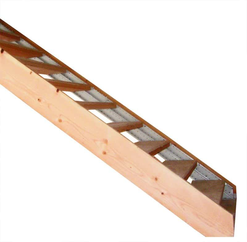 Best Wood Finished Stair Stringers By Fast Stairs Com Stairs 400 x 300