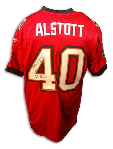 huge selection of 9ed52 821f0 Autographed Mike Alstott Tampa Bay Buccaneers Authentic NFL ...
