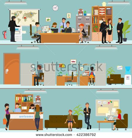 cartoon people working in an office wwwpixsharkcom