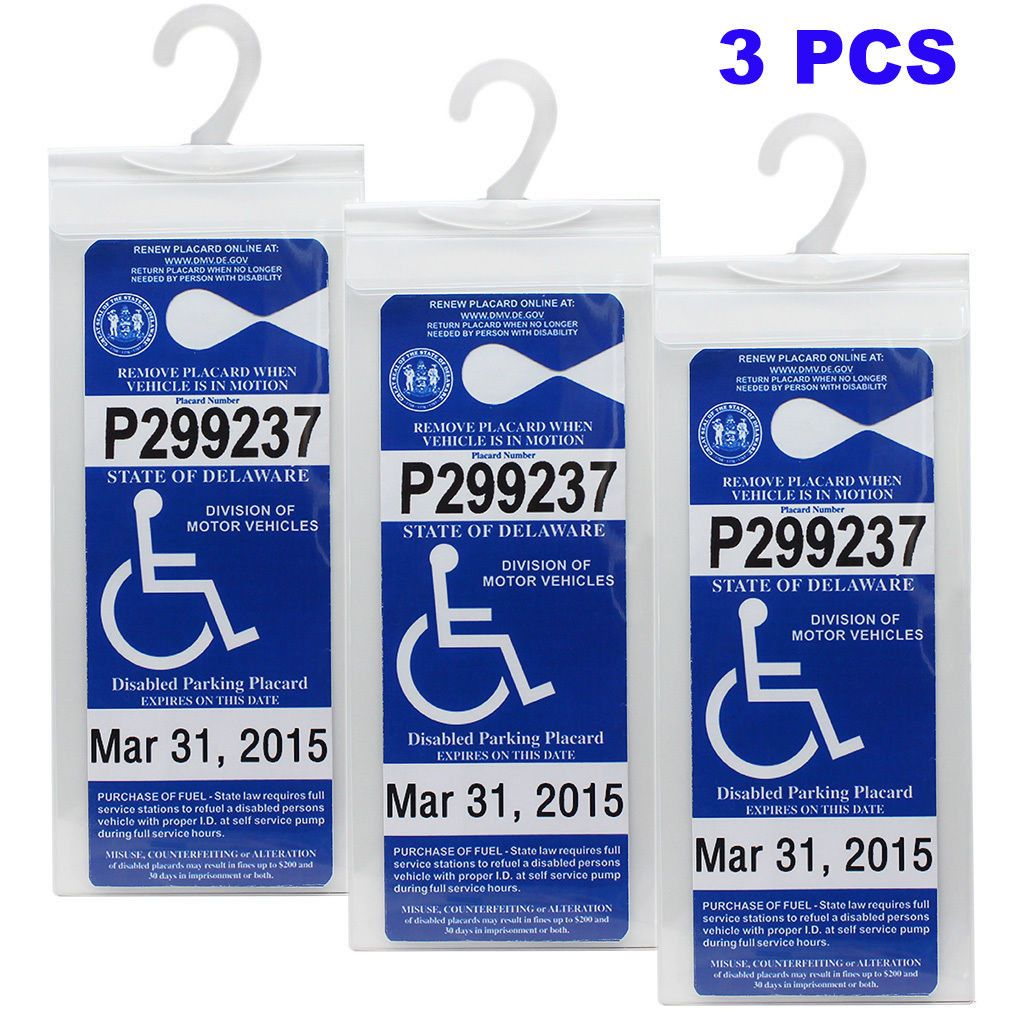 Handicap Placard Holder Car Parking Sign Permit Protector Hanger Cover Sleeve Parking Signs Handicap Parking Signs Permit