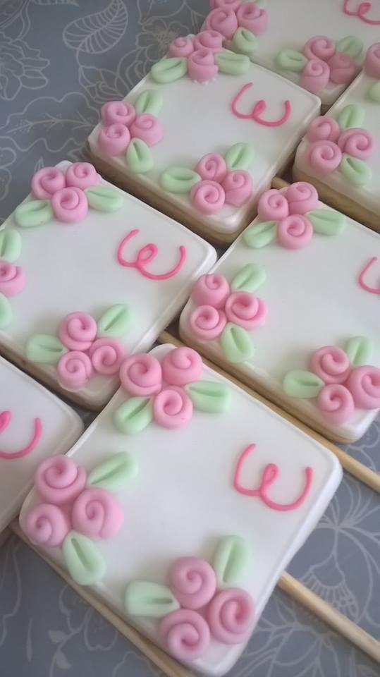 biscoito decorado mini rosas