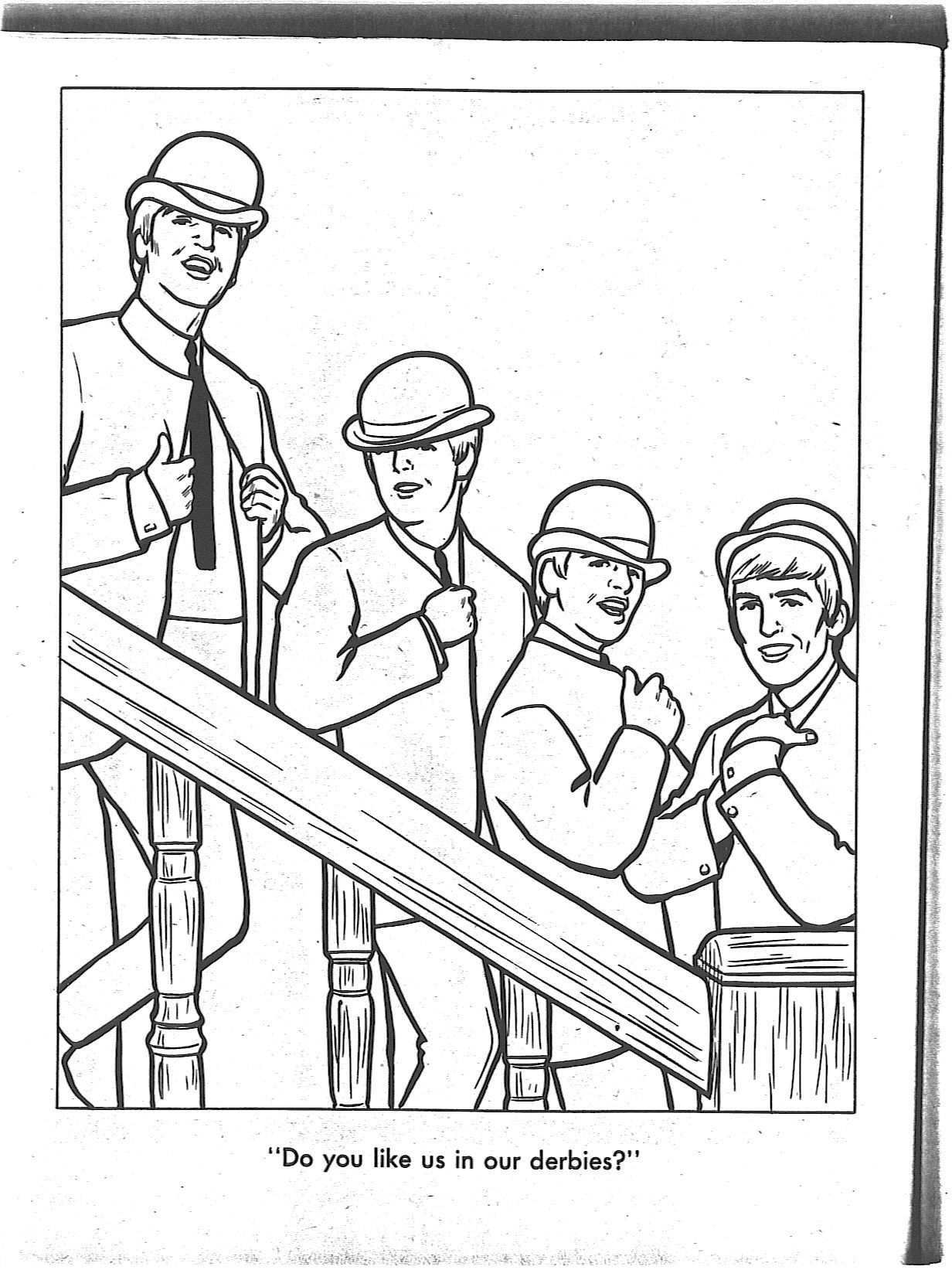 from the beatles coloring book - Beatles Coloring Book