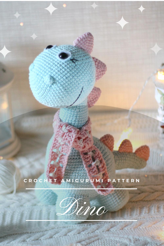 Photo of PDF Crochet Pattern Dinosaur Vova Amigurumi Toy Dino Tutorial
